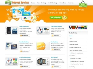 servers free web hosting center