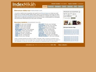 index nikah rencontre How popular is indexnikah get traffic statistics, rank by category and country, engagement metrics and demographics for indexnikah at alexa.