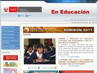 Visit www.minedu.gob.pe