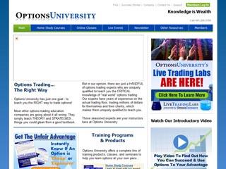 Option trading university